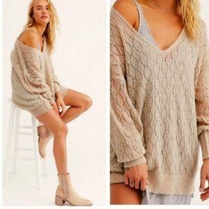 Free People Say Hello Wool Alpaca Sweater Tunic